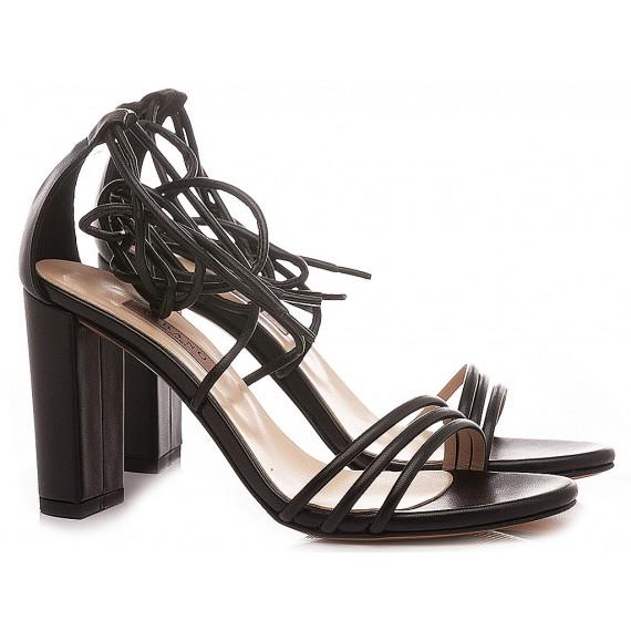 Albano Women's Sandals Leather Black 8078