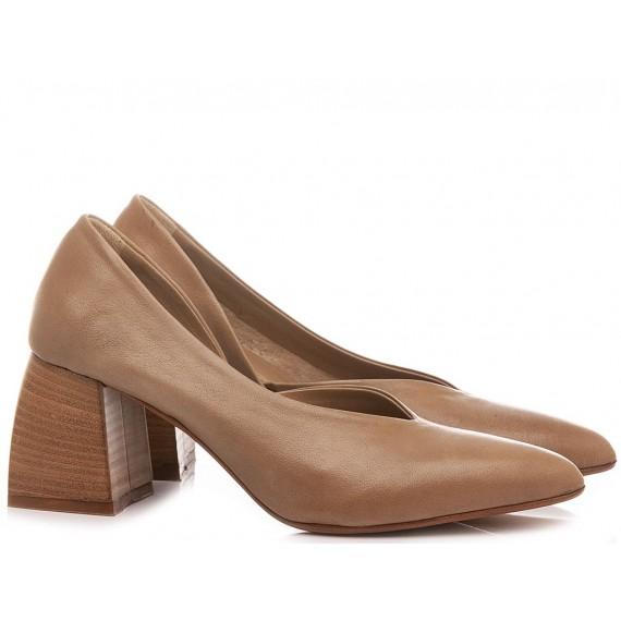 S-Donna Women's Shoes Decollètè Leather Taupe