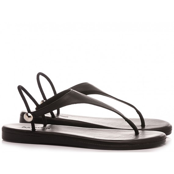 Inuovo Women's Thong Sandals 444009 Black