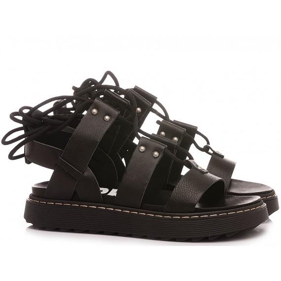 RepKo Women's Sandals Leather Black SM03