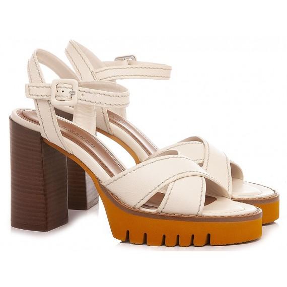 Elvio Zanon Women's Sandals EN0903X Cream-Tan