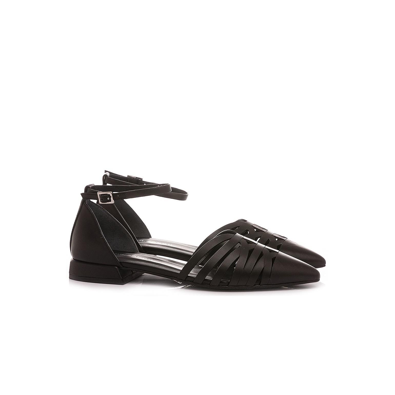Elvio Zanon Women's Ballerina Shoes EN1801X Black