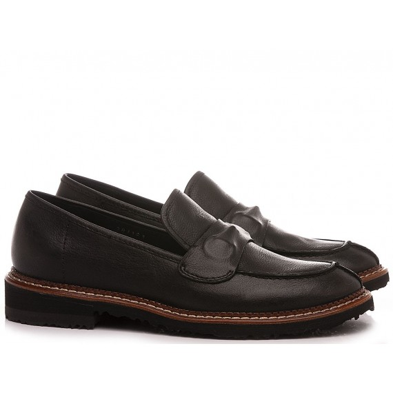 Elvio Zanon Women's Loafers EN0102X Black