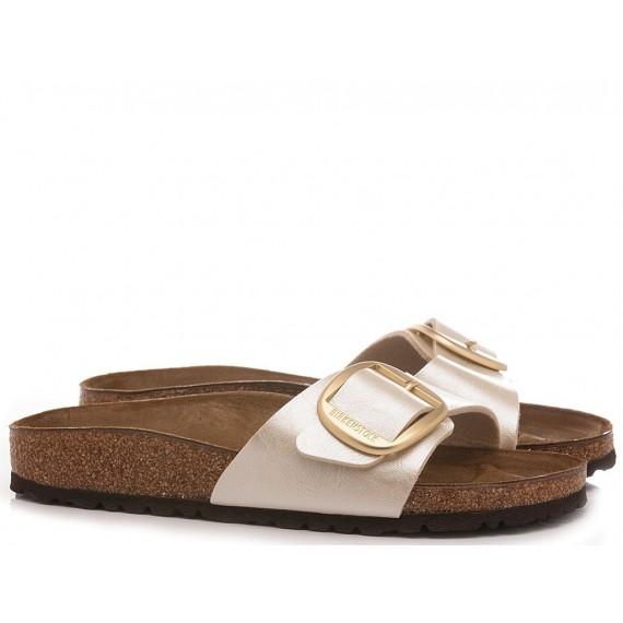 Birkenstock Women's Sandals Madrid Big Bukle Pearl White